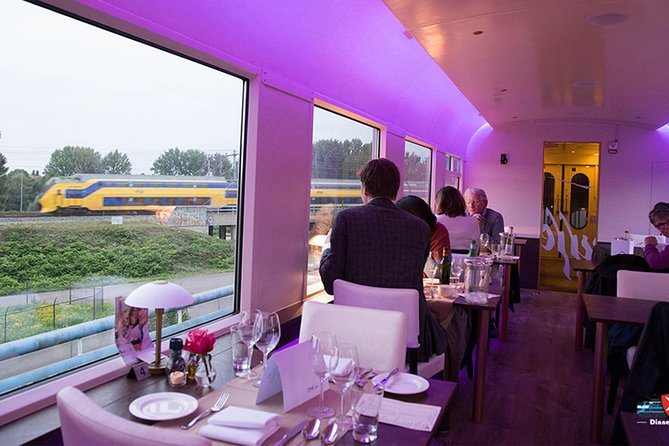 Unique dining in the train through the green heart of Holland