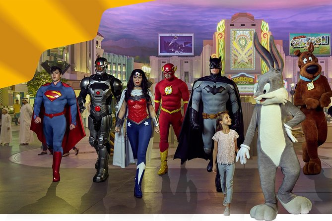 Abu Dhabi Warner Bros World From Dubai with Private Pickup & dropoff
