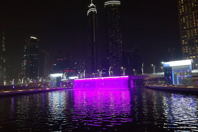 Dubai Water Canal Dinner Cruise with Private transfers for 1 to 9 people