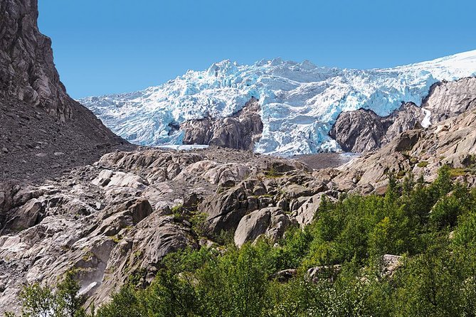 Folgefonna glacier mountain rocks