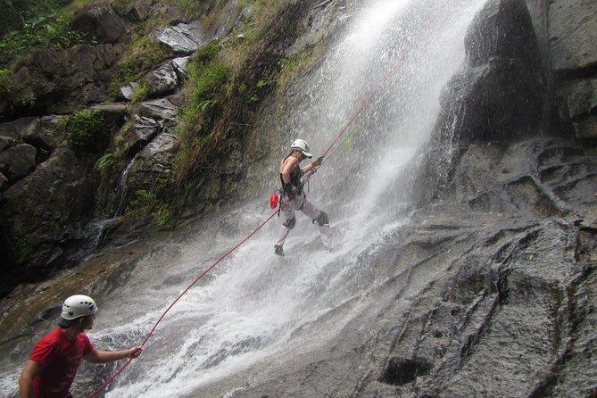 Rappelling down Antelope Falls