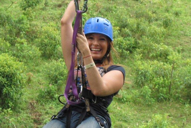 Tarzan Swing Zipline and Blue River Adventure at Rincon de la Vieja from Playa Hermosa