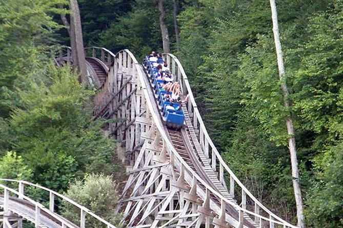 Thunderbolt Mountain Coaster with Bridge of Flowers and Yankee Candle