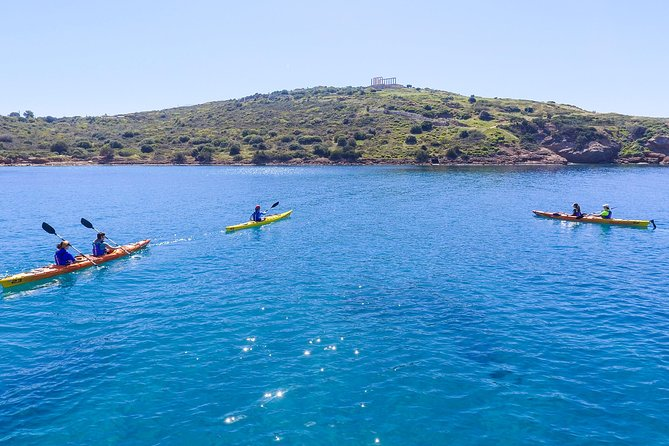Athens Sea Kayak Tour to the Temple of Poseidon with entrance fee and lunch