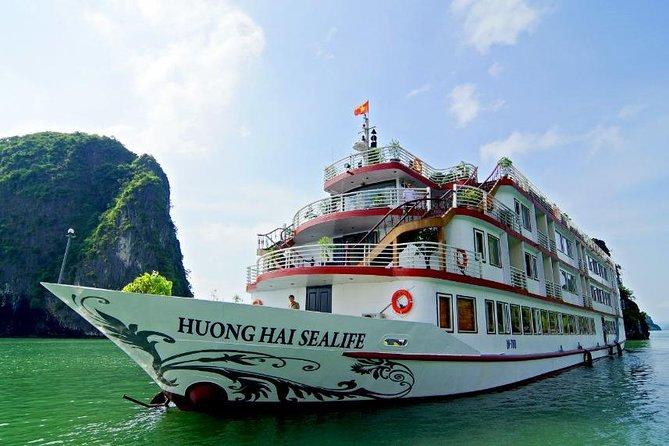Crucero por la bahía de Halong y la bahía de Bai Tu Long durante la noche