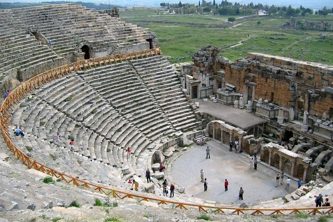 Marvel at the ancient amphitheater of Hierapolis