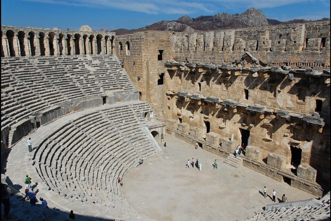Full-Day Tour of Kursunlu Waterfalls, Aspendos, and Ancient Ruins of Side From Alanya