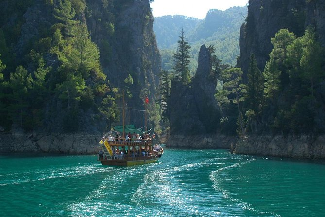Green Canyon Boat Tour with Lunch and Drinks from Antalya