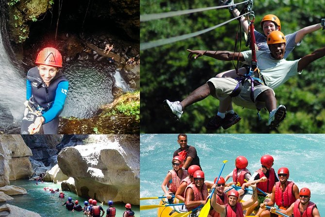 Rafting Canyoning and Zipline Adventure from Antalya