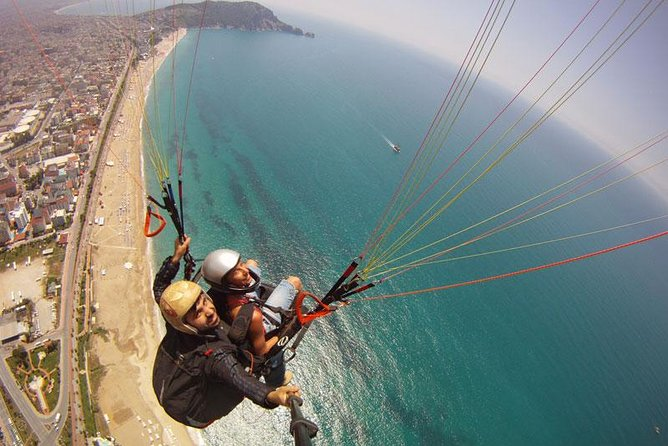 Tandem Paragliding with transfer from Side
