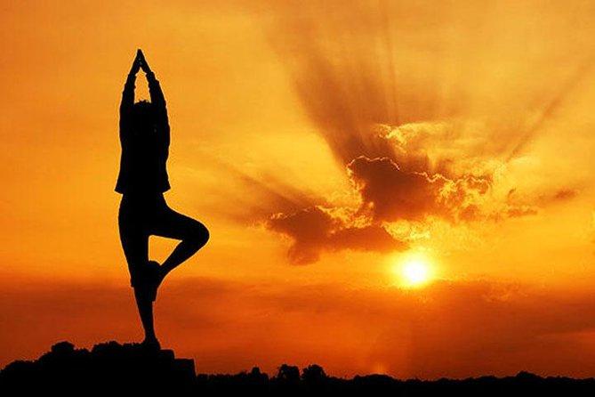 Morning Yoga on a bank of the Ganga river