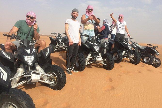 Dubai Evening Desert Adventure Quad Bike and BBQ Dinner