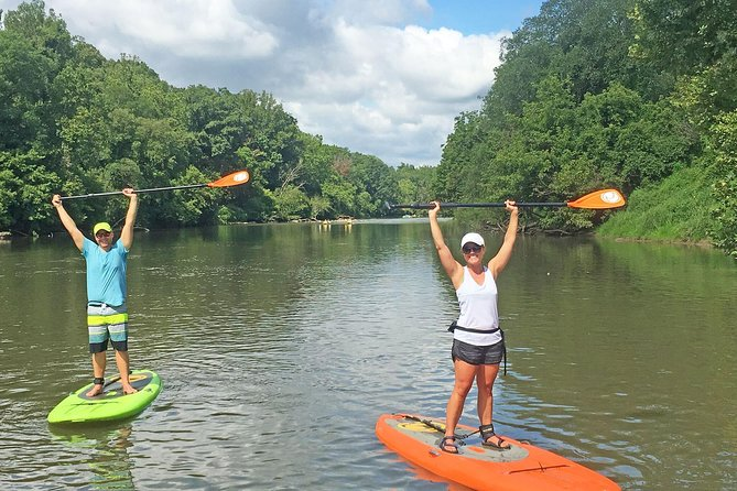 7 Mile Guided Paddleboard Tour On The French Broad River in Asheville