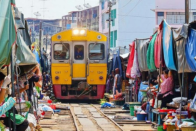 Bangkok - Damnoen Saduak och Tågmarknad Privat Tour