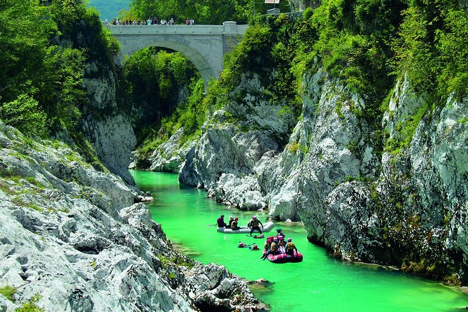 Soca Valley, WW1 path, Waterfall, Rafting - small group day tour from Ljubljana