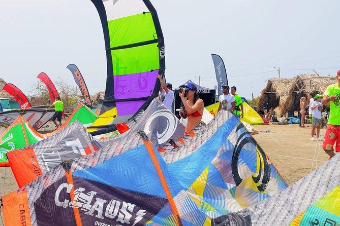 Lección privada de kiteboarding en Cartagena