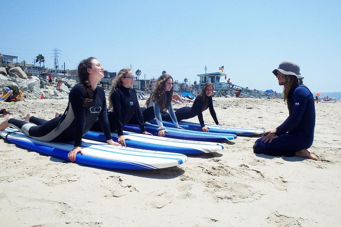 Small-Group Surf Lessons at Hermosa Beach