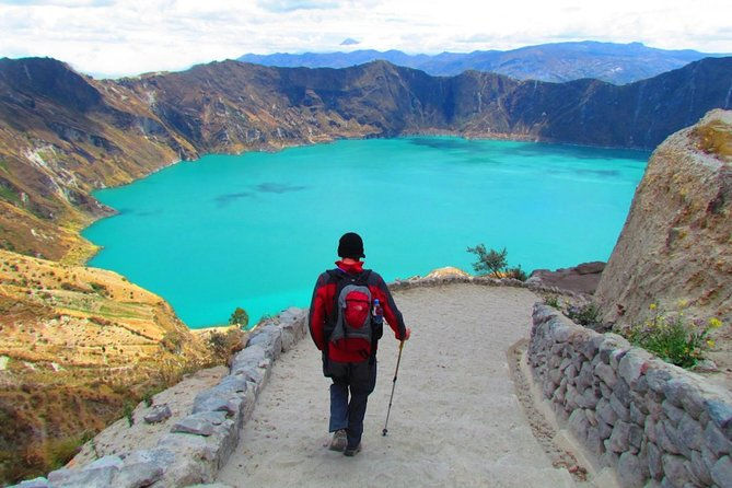 Excursão de dia inteiro com caminhada no Lago Quilotoa saindo de Quito