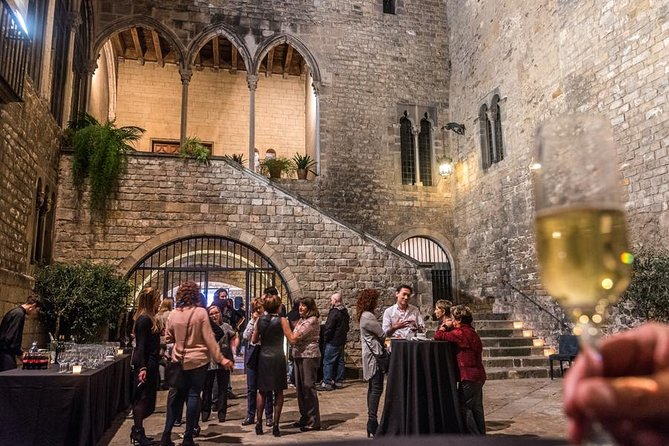 Guided Tour with glass of cava and live sword show at Requesens Palace