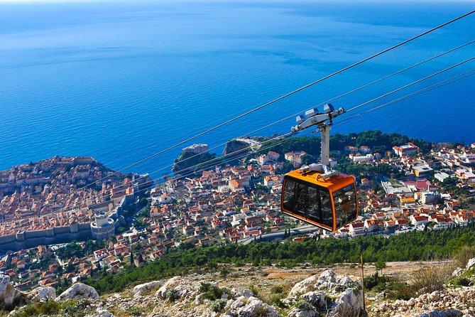 Visita panoramica privata di Dubrovnik - vista della funivia