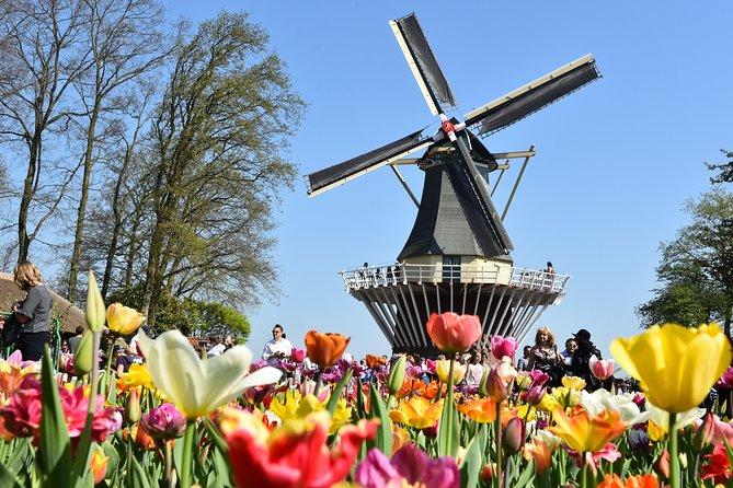 Keukenhof, Zaanse Schans & Amsterdam Canal Cruise