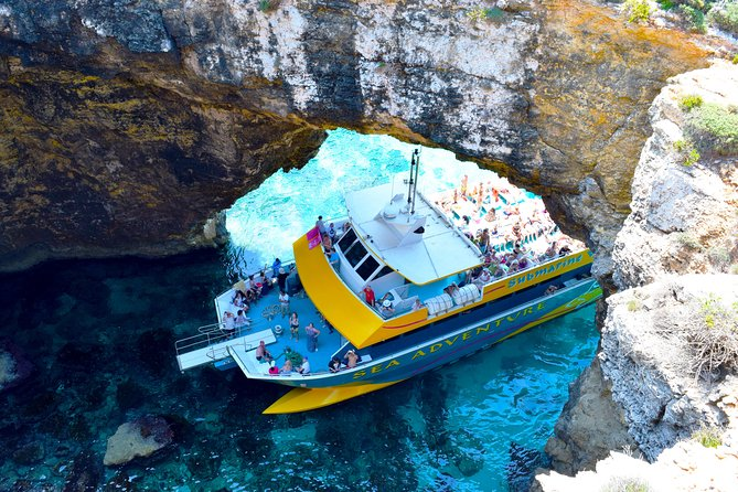 Comino Island: including Blue Lagoon, Crystal Lagoon & sea caves