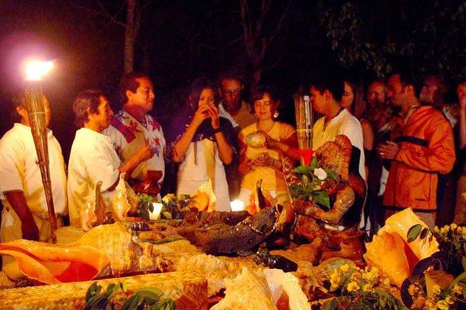 Maya Temazcal Night Ceremony från Cancun med Cenote Swim and Dinner