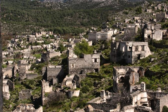 Explore the deserted ghost town of Kayakoy