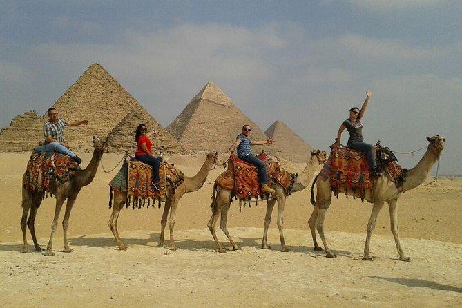 Giza Pyramid Desert Camel Ride Trip During Sunrise or Sunset