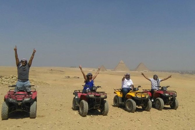 Half day tour to Giza pyramids and 1 Hour quad bike at the desert