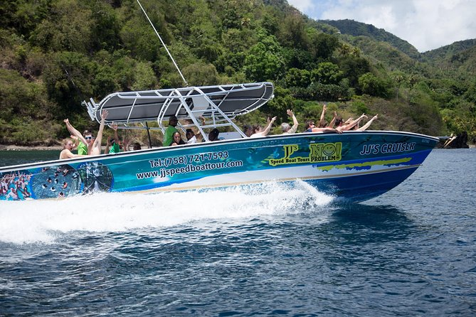 St Lucia Speed Boat and Sightseeing Tour to Soufriere
