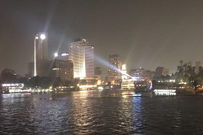 Cairo by night with felucca ride on Nile river
