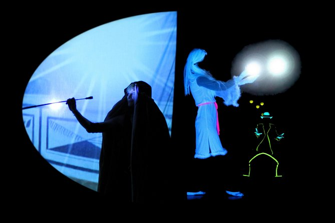 1-Hour HISTORY Best of Black Light Theater Show in Prague