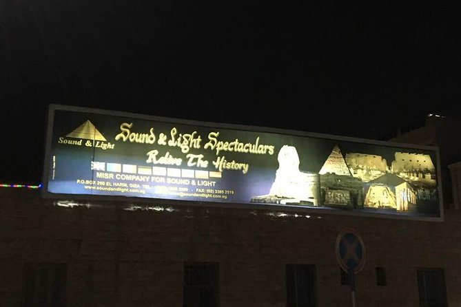 sound and light spectacular at Giza pyramids and dinner koshry