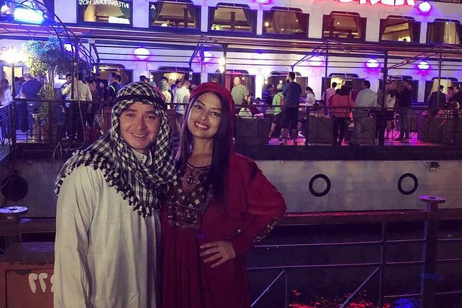 invitation to have dinner at night on Nile cruise with belly dancer