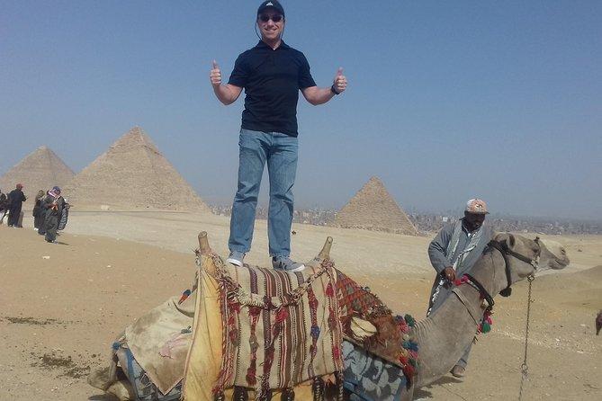 Halve dagtrip naar Gizeh-piramides en de sfinx met entreegelden inbegrepen