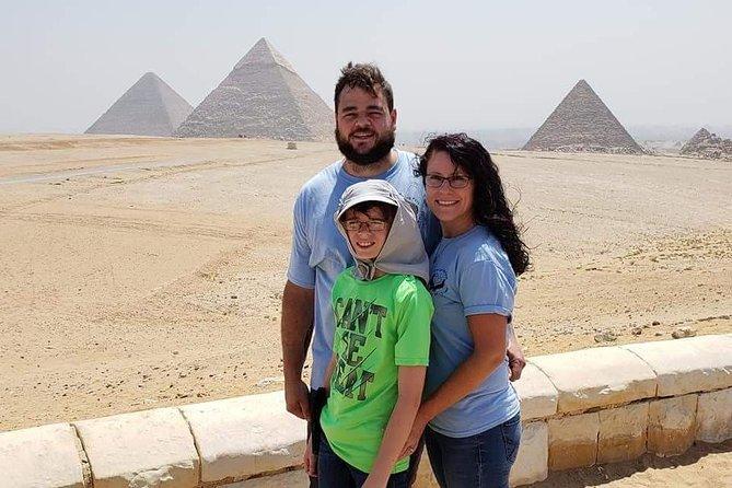 Giza pyramids and quad ATV bike one hour around Sahara desert in Giza