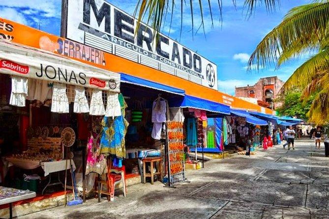 La ciudad de Cancún y recorrido por las tiendas, incluidas las ruinas El Meco