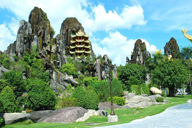 Marble Mountain one day tour depart from Hoi An