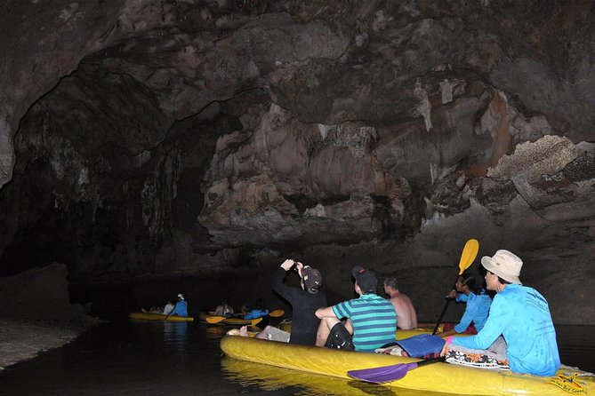Canoe in cave