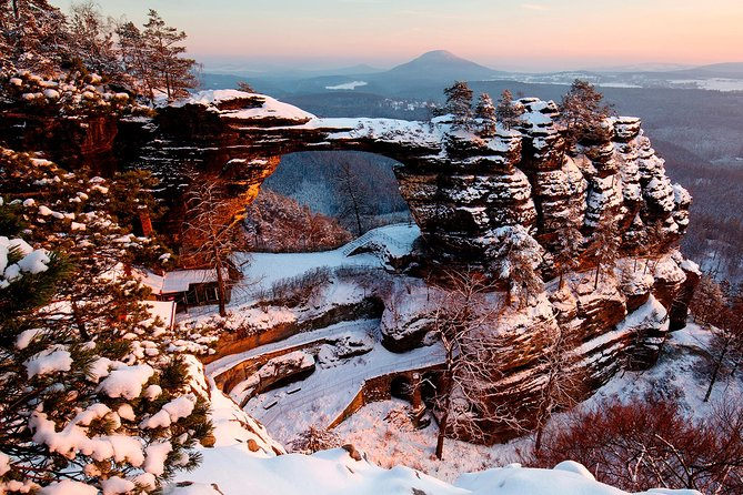 Best Rated -Pravcicka Gate & Bastei Bridge Winter National Park Tour from Prague