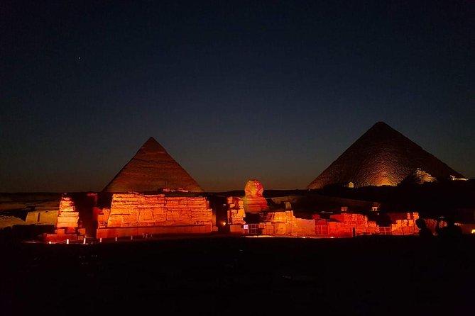 night show light and sound spectacular at pyramids