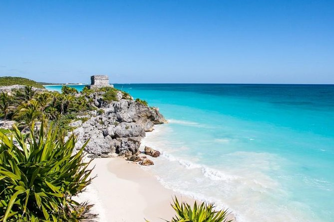 TULUM RUINS SNORKELING IN A REEF AND IN CENOTE CAVE FROM PLAYA DEL CARMEN
