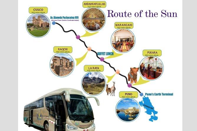 Cusco to Puno Bus transportations VIP Tourist Service