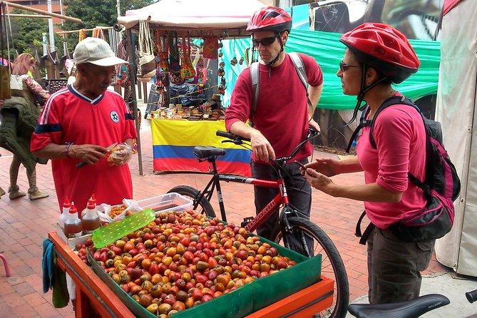 Mad med cykel i Bogotá