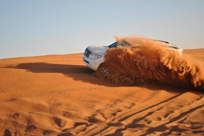 Morning Dubai Desert Safari with Camel Ride and Sand boarding