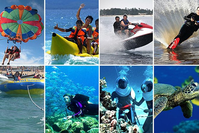 The Best Water Sport Private Tours-Parasailing-Banana Boat and Uluwatu Temple