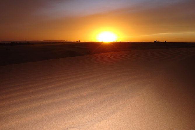 Sunset Camel Ride in Sahara Merzouga Desert Erg Chebbi Dunes photo 3