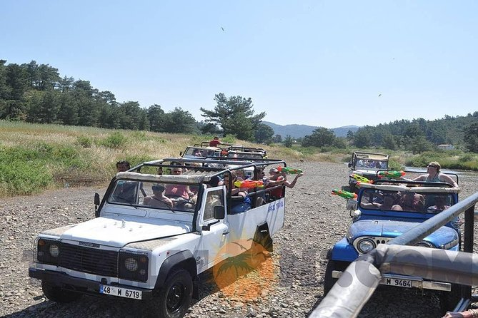 4X4 Off-Road Safari; visiting Jesus Beach-Kizkumu, Waterfall, Bayır fr. Marmaris