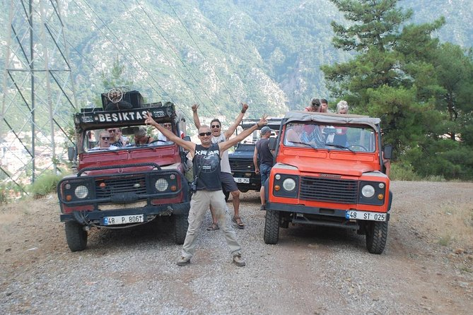 Sunset Pleasure and Swim with Barbeque dinner 4x4 jeep from marmaris